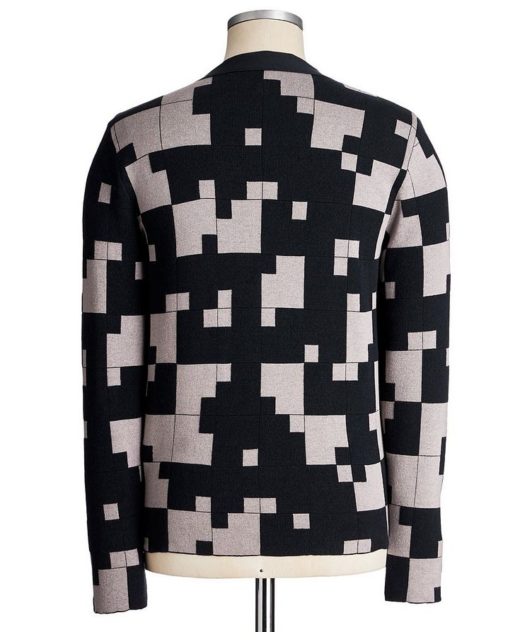 Geometric Silk-Cashmere Blend Cardigan image 2