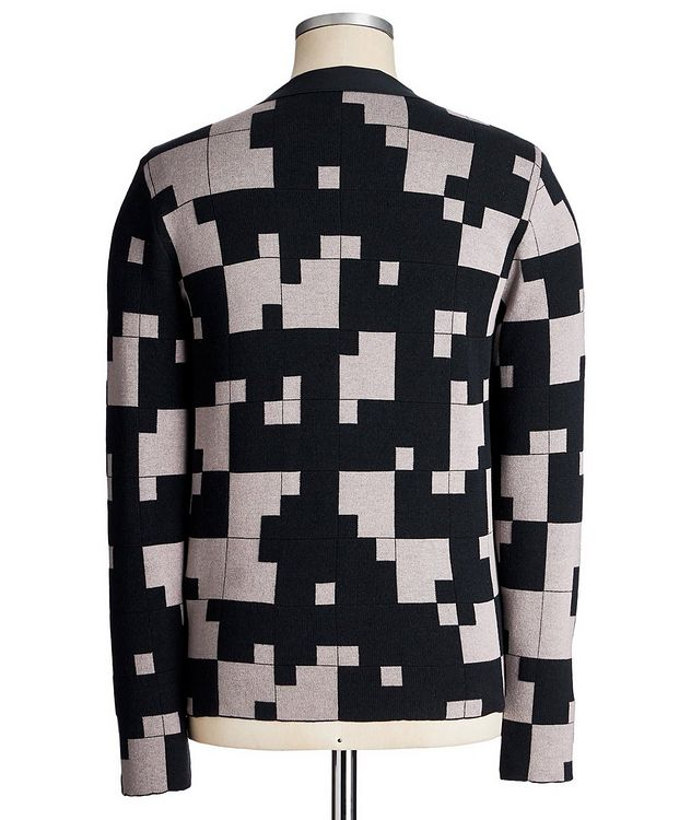 Geometric Silk-Cashmere Blend Cardigan picture 3