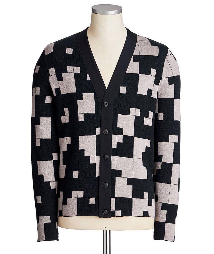Geometric Silk-Cashmere Blend Cardigan image 0