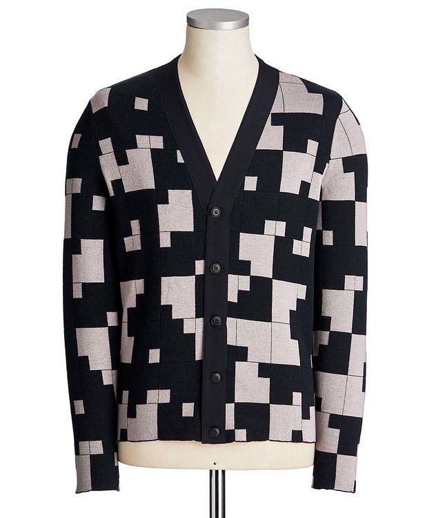 Geometric Silk-Cashmere Blend Cardigan picture 1