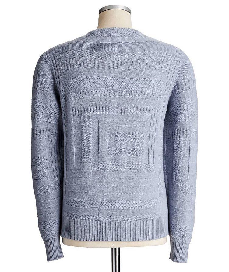 Geometric-Knit Cashmere Sweater image 1