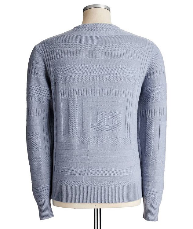 Geometric-Knit Cashmere Sweater picture 2