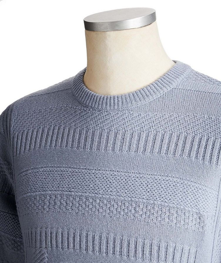 Geometric-Knit Cashmere Sweater image 2
