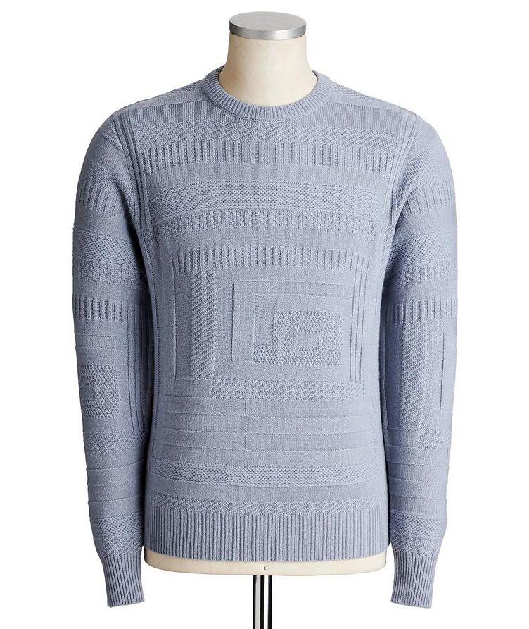 Geometric-Knit Cashmere Sweater image 0