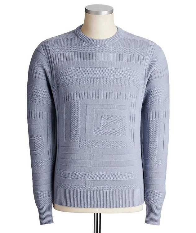 Geometric-Knit Cashmere Sweater picture 1