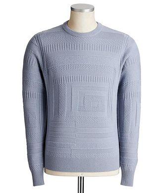 Giorgio Armani Geometric-Knit Cashmere Sweater
