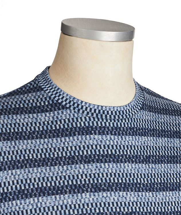 Checked Silk-Cotton T-Shirt picture 2