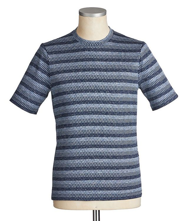 Checked Silk-Cotton T-Shirt picture 1