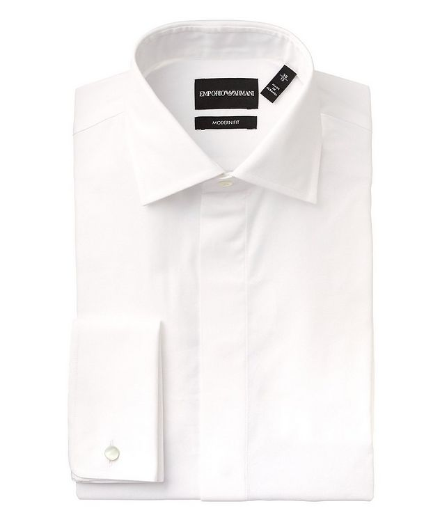 Contemporary Fit Cotton-Silk Dress Shirt picture 1