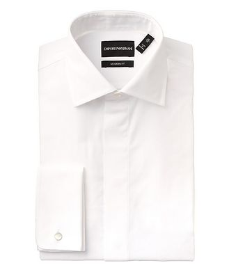 Emporio Armani Contemporary Fit Cotton-Silk Dress Shirt