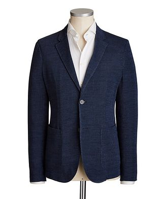 Emporio Armani Unstructured Cotton Sports Jacket