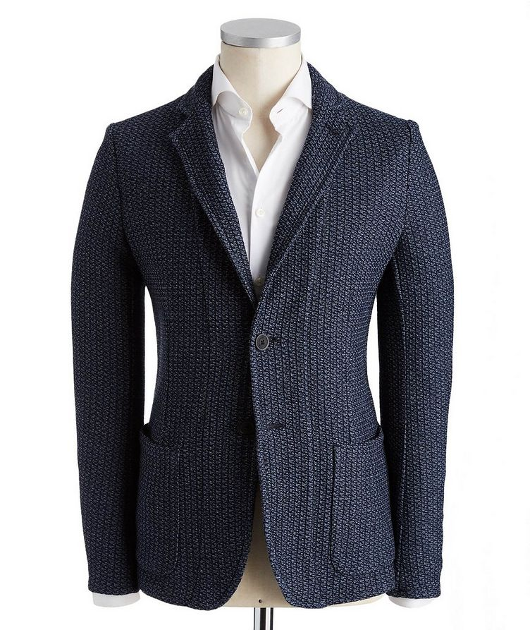 Unstructured Knit Cotton Sports Jacket image 0