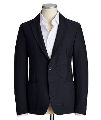 Emporio Armani Unstructured Stretch-Cotton Sports Jacket