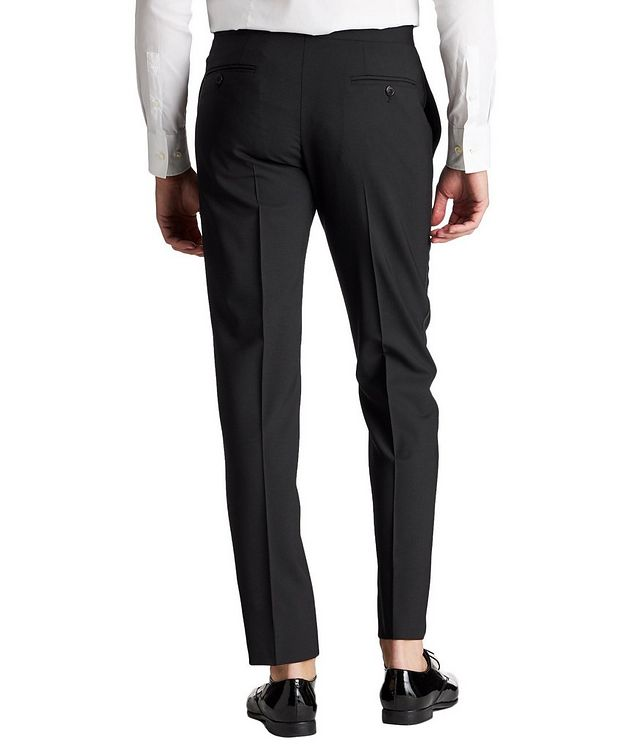 Slim Fit Stretch-Wool Tuxedo Pants picture 2