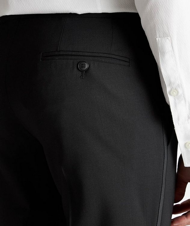 Slim Fit Stretch-Wool Tuxedo Pants picture 3