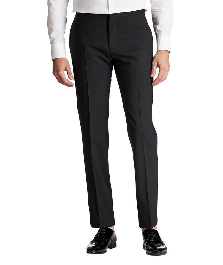 Slim Fit Stretch-Wool Tuxedo Pants image 0