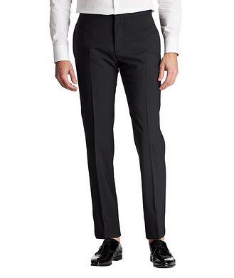 Emporio Armani Slim Fit Stretch-Wool Tuxedo Pants
