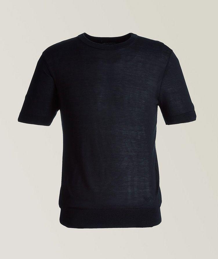 Short-Sleeve Silk Sweater image 0