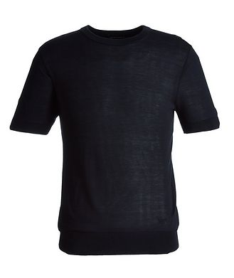 Emporio Armani Short-Sleeve Silk Sweater