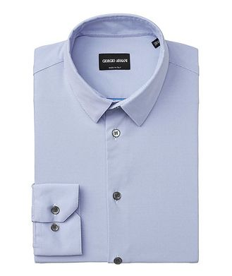 Giorgio Armani Striped Stretch-Blend Shirt