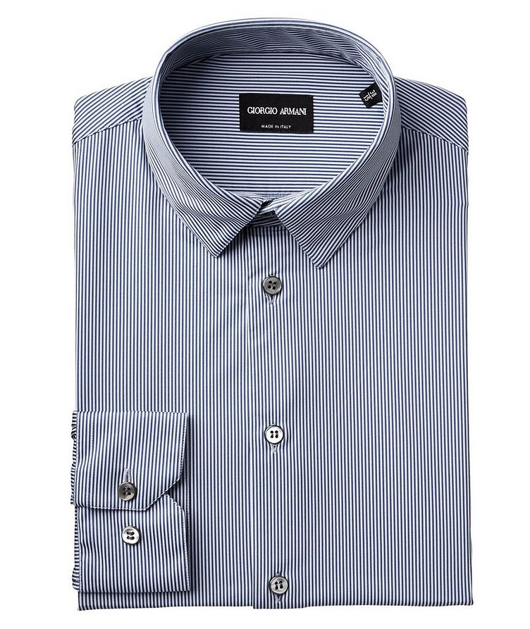 Striped Stretch-Blend Shirt image 0