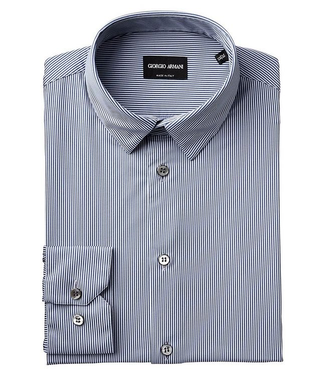 Striped Stretch-Blend Shirt picture 1