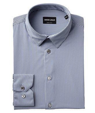Giorgio Armani Striped Stretch-Blend Shirt