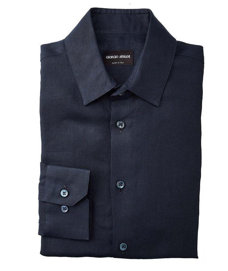 Slim-Fit Linen Dress Shirt image 0