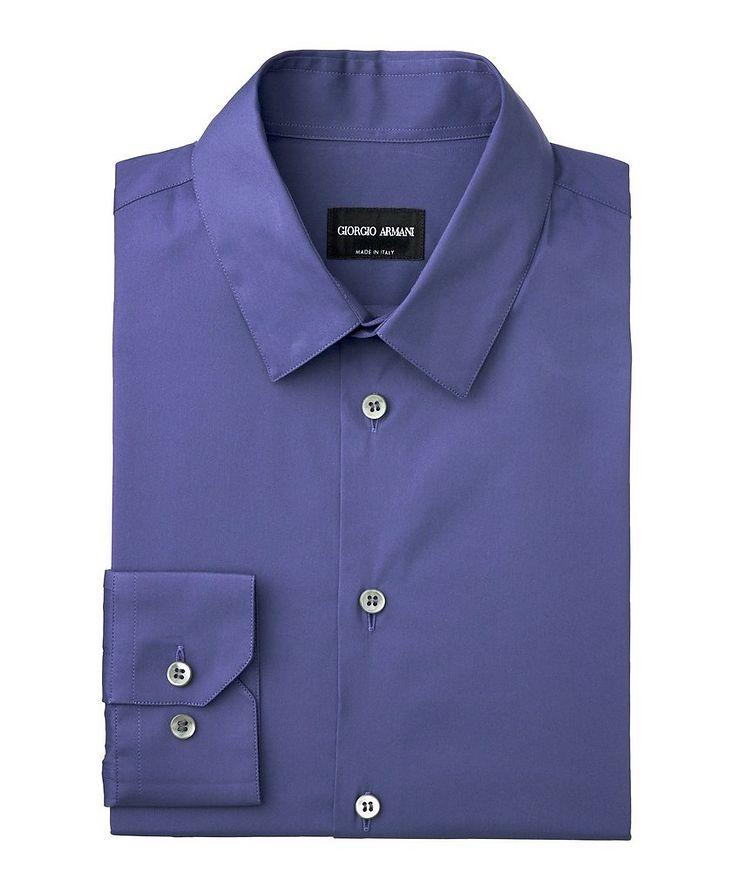 Striped Stretch-Cotton Shirt image 0