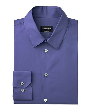 Giorgio Armani Striped Stretch-Cotton Shirt