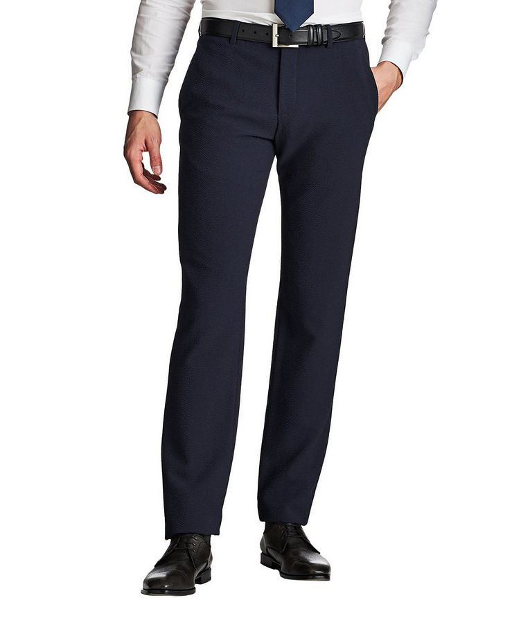 Stretch-Virgin Wool Trousers image 0