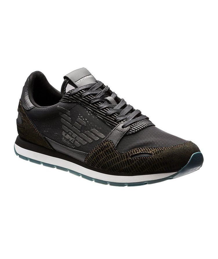 Mesh and Suede Sneakers image 0
