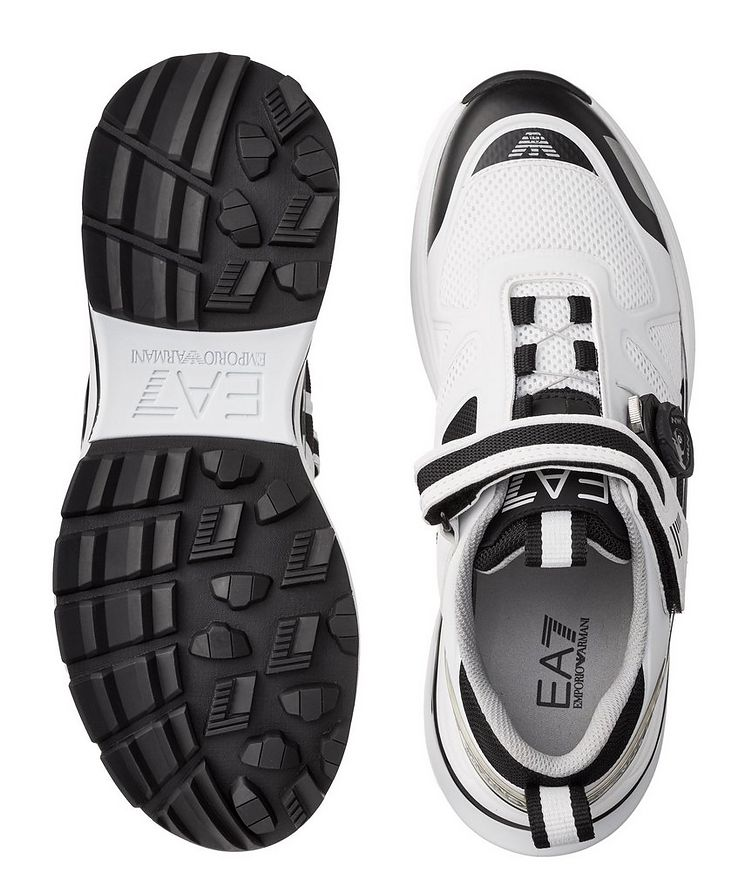 EA7 Leather and Mesh Sneakers image 2