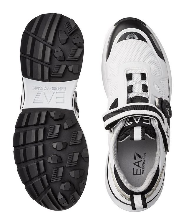 EA7 Leather and Mesh Sneakers picture 3