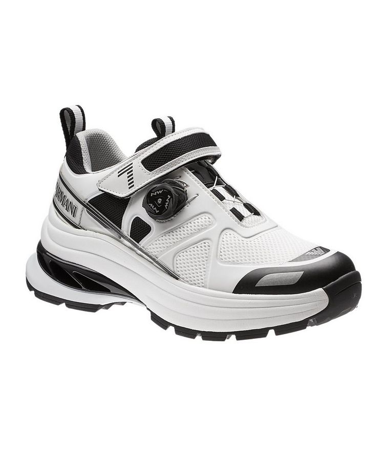 EA7 Leather and Mesh Sneakers image 0