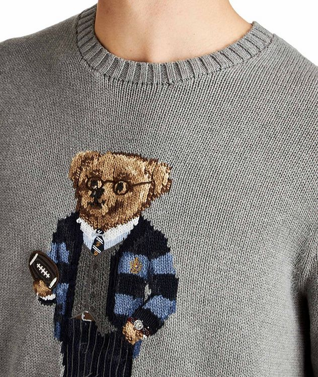 Bear-Intarsia Cotton Sweater picture 3