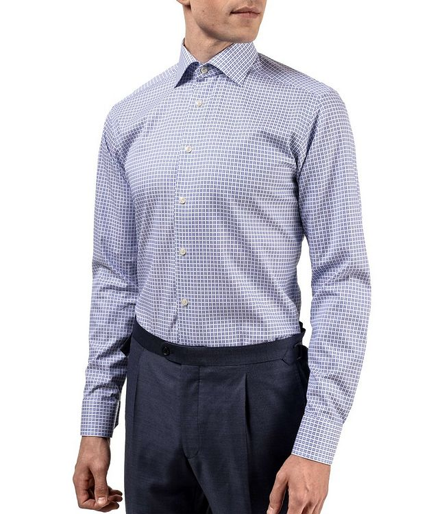 Slim Fit Checkered Dress Shirt picture 2