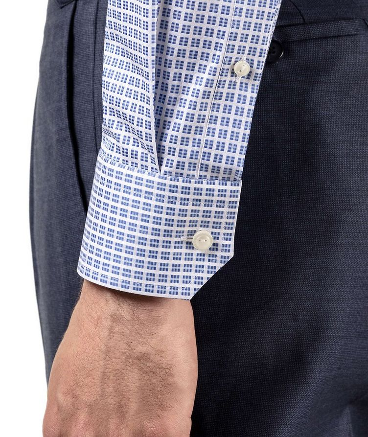 Slim Fit Checkered Dress Shirt image 3