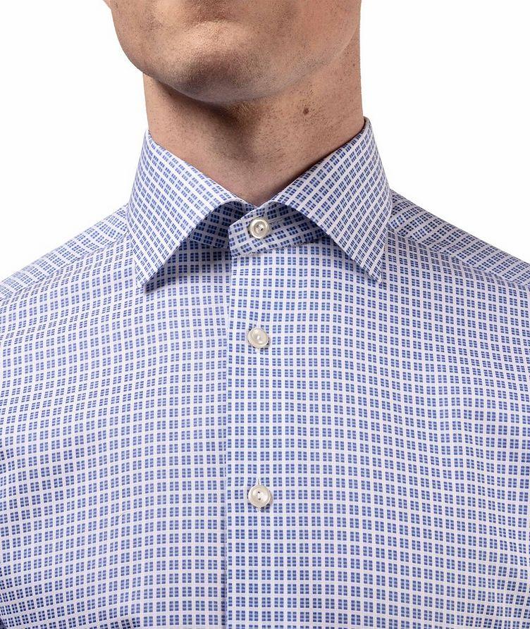 Slim Fit Checkered Dress Shirt image 4