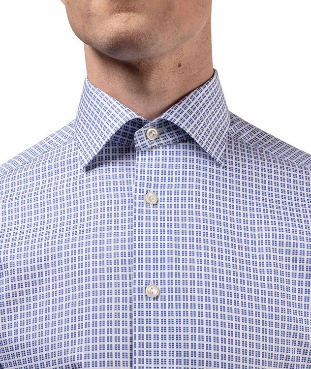 Slim Fit Checkered Dress Shirt picture 5
