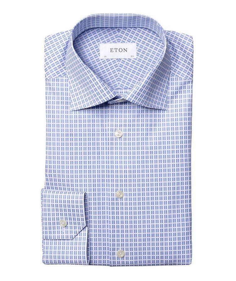 Slim Fit Checkered Dress Shirt image 0