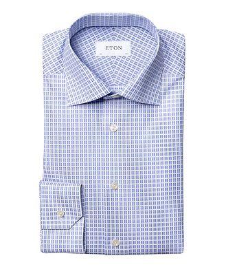 Eton Slim Fit Checkered Dress Shirt