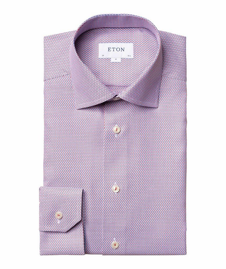 Slim Fit Woven-Striped Dress Shirt image 0