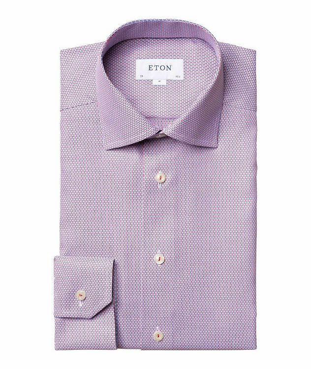 Slim Fit Woven-Striped Dress Shirt picture 1