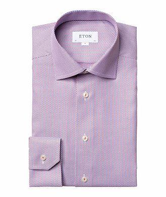 Eton Slim Fit Woven-Striped Dress Shirt