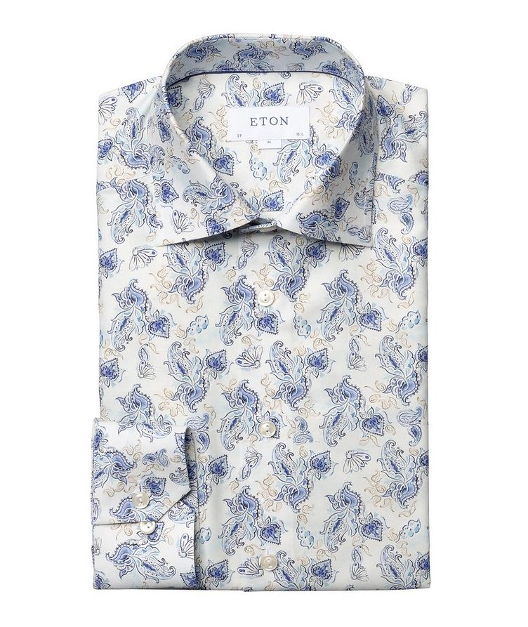 Slim Fit Paisley Dress Shirt image 0