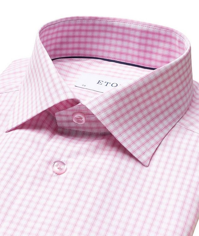 Slim Fit Grid-Checked Dress Shirt picture 2