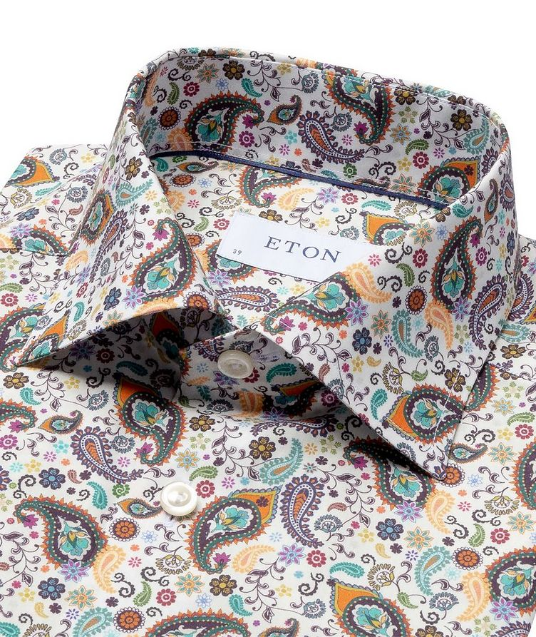 Slim Fit Paisley Dress Shirt image 1