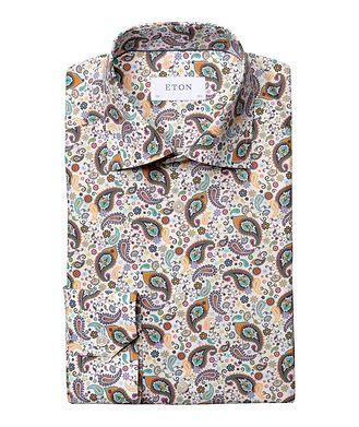 Eton Chemise habillée imprimée de coupe amincie