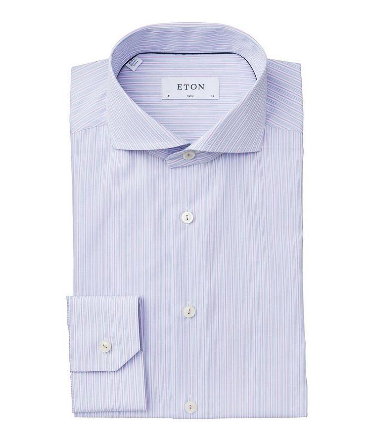 Slim Fit Striped Dress Shirt image 0